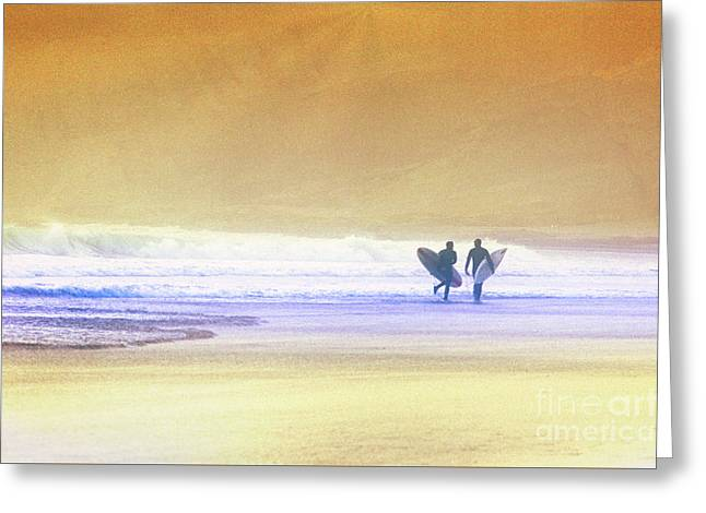 Greeting Card featuring the photograph Surfers by Scott Kemper