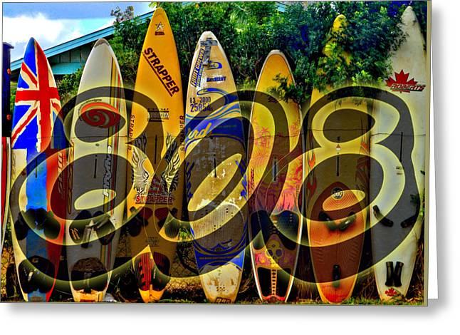 Surfin' 808 Greeting Card by DJ Florek