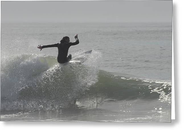 Surfing 114 Greeting Card by Joyce StJames