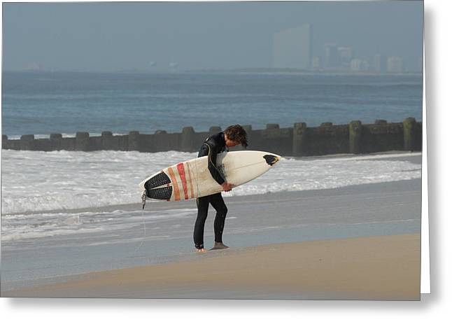 Surfing 116 Greeting Card by Joyce StJames