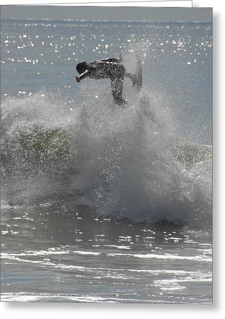 Surfing Photos Greeting Cards - Surfing 149 Greeting Card by Joyce StJames