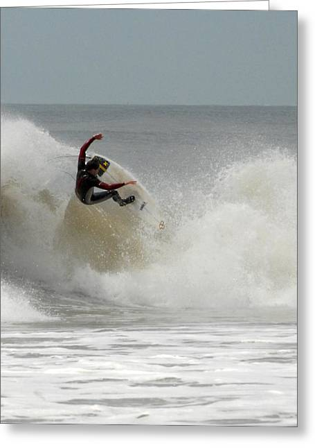 Surfing Photos Greeting Cards - Surfing 71 Greeting Card by Joyce StJames