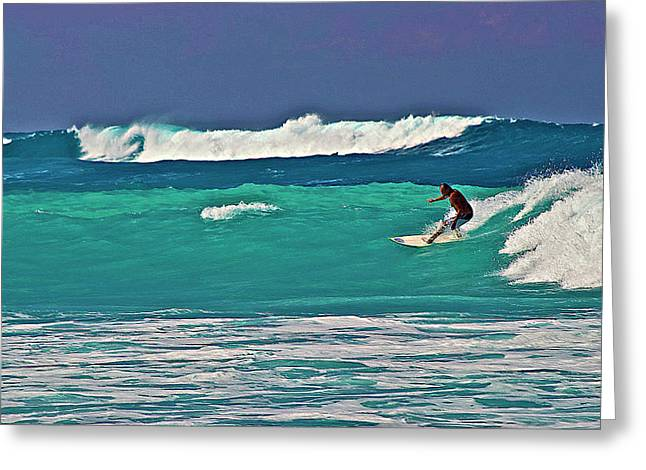 Surfing At Anaeho'omalu Bay 2 Greeting Card