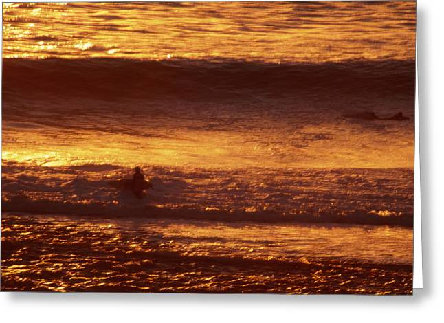 Surfing California Greeting Card