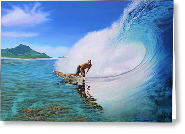 Surfing Dan Greeting Card