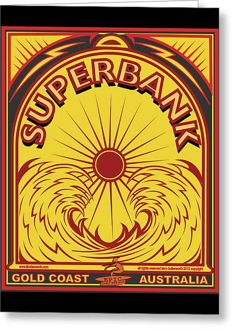 Surfing Sduperbanks Gold Coast Australia Greeting Card