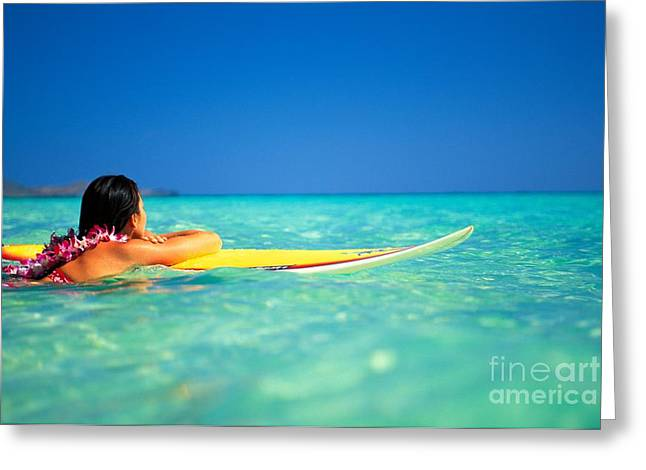 Surfing Serenity Greeting Card by Dana Edmunds - Printscapes
