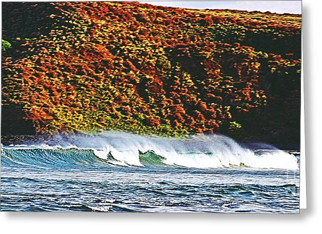 Surfing The Island Greeting Card