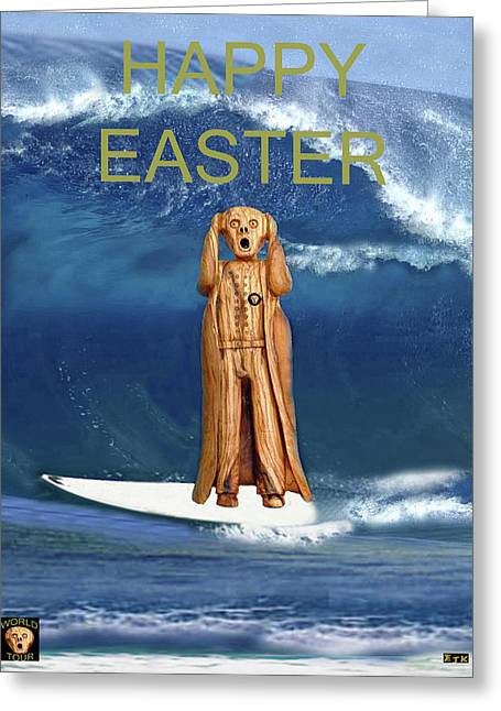 Surfing The Scream World Tour Happy Easter Greeting Card