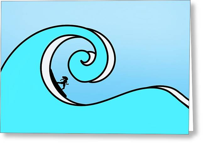Surfing The Wave Greeting Card