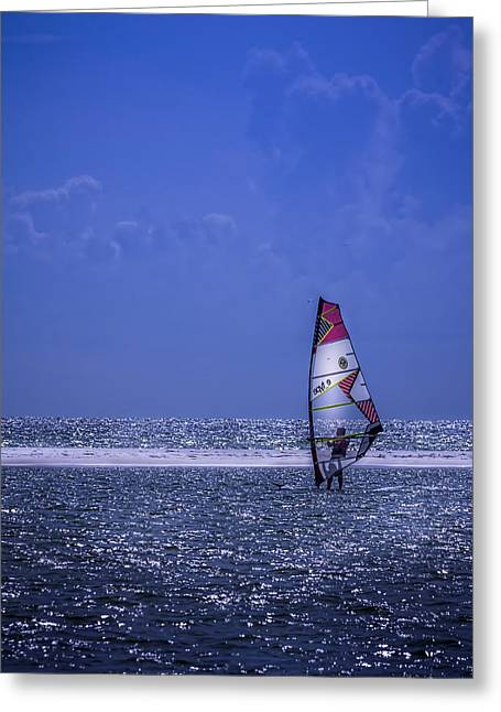 Surfing The Wind Greeting Card by Marvin Spates