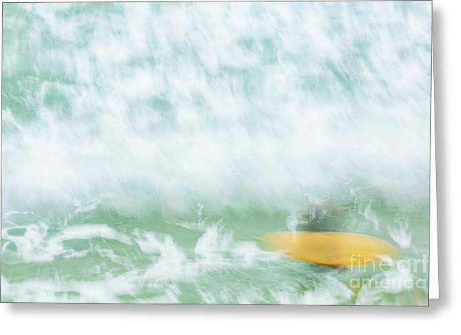 Surf's Down Greeting Card by Tony Higginson