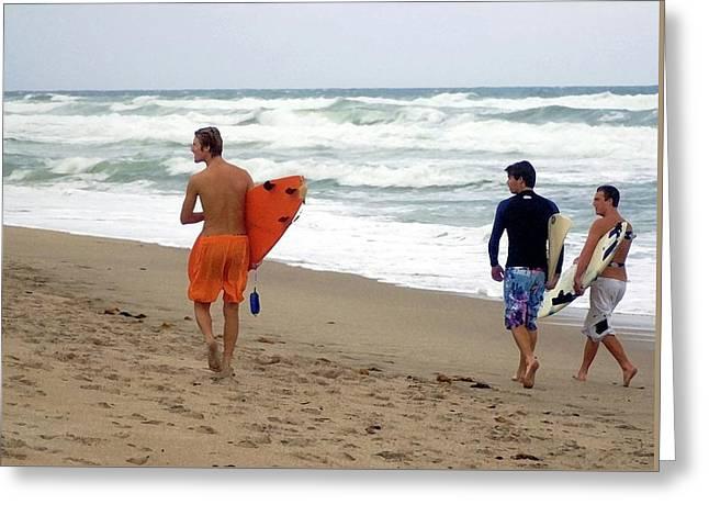 Surfs Up Boys Greeting Card