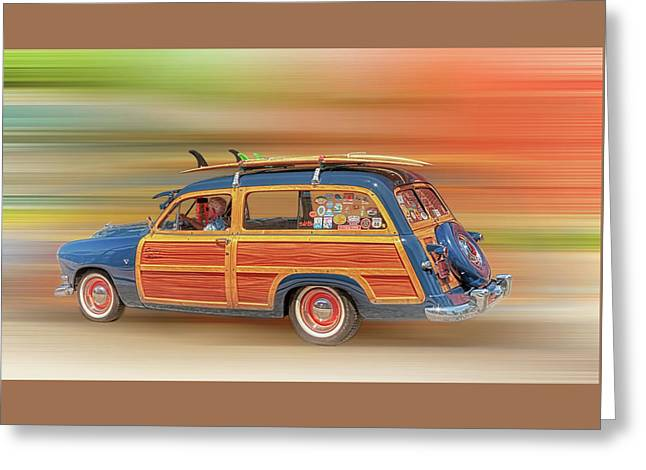 Greeting Card featuring the photograph Surf's Up by Susan Rissi Tregoning