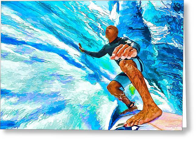 Surf's Up With Kelly Slater Greeting Card by ABeautifulSky Photography