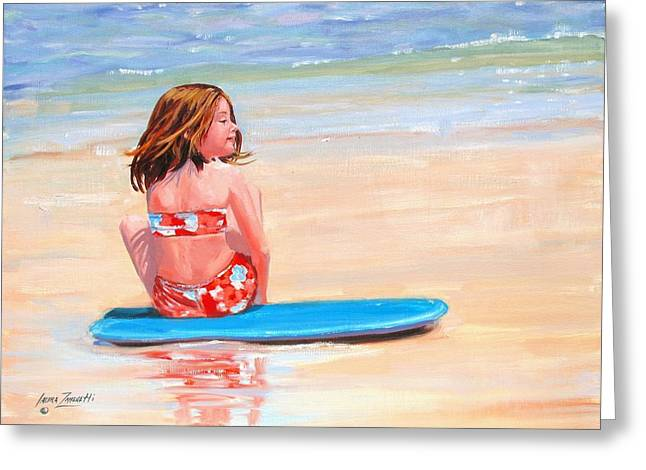 Surfside Greeting Card by Laura Lee Zanghetti
