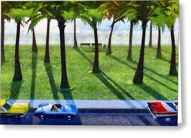 Surfside Painted Greeting Card by Cynthia Decker