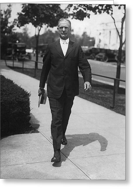 Surgeon General Walks To Work Greeting Card by Underwood Archives