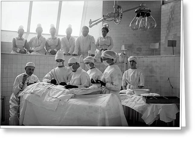 Greeting Card featuring the photograph Surgery Theater C. 1917 by Daniel Hagerman