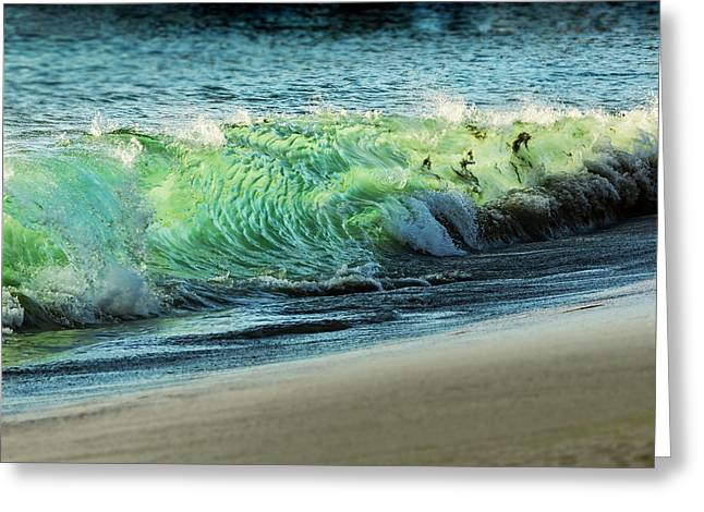 Surging Water Greeting Card by Kelley King