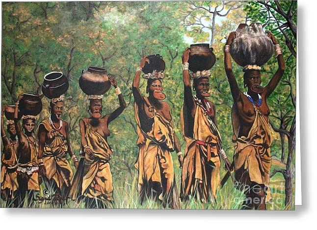 Blaa Kattproduksjoner        Surma Women Of Africa Greeting Card