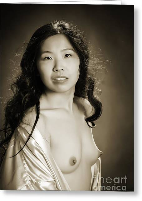 Suro Female Nude Fine Art Print Picture Or Photograph  4297.01 Greeting Card