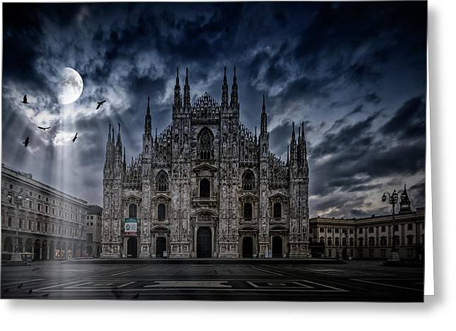 Surreal Art Milan Cathedral No1 Greeting Card by Melanie Viola