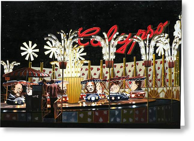 Surreal Carnival Greeting Card by Dave Martsolf