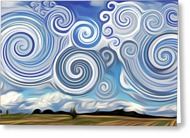 Surreal Cloud Blue Greeting Card