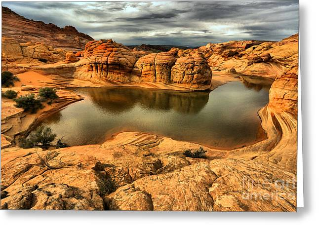 Surreal Desert Storm Landscape Greeting Card by Adam Jewell