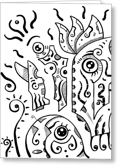 Surrealism Eyes Greeting Card