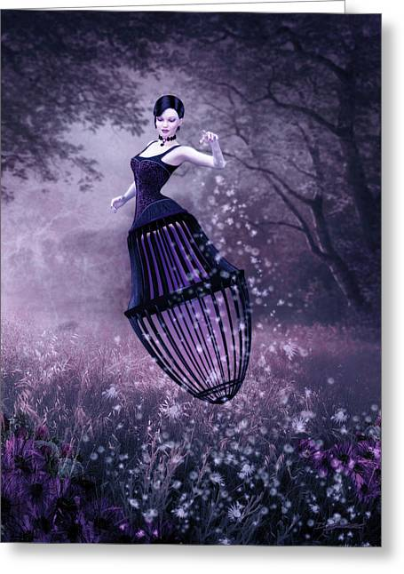 Surreal Fairy And Her Magic Seed  Greeting Card