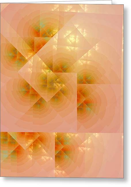 Greeting Card featuring the digital art Surreal Skylight by Richard Ortolano