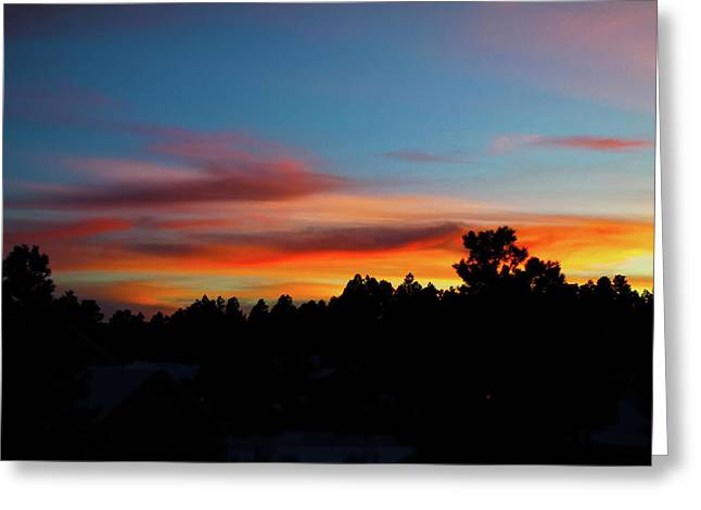 Greeting Card featuring the photograph Surreal Sunset by Jason Coward
