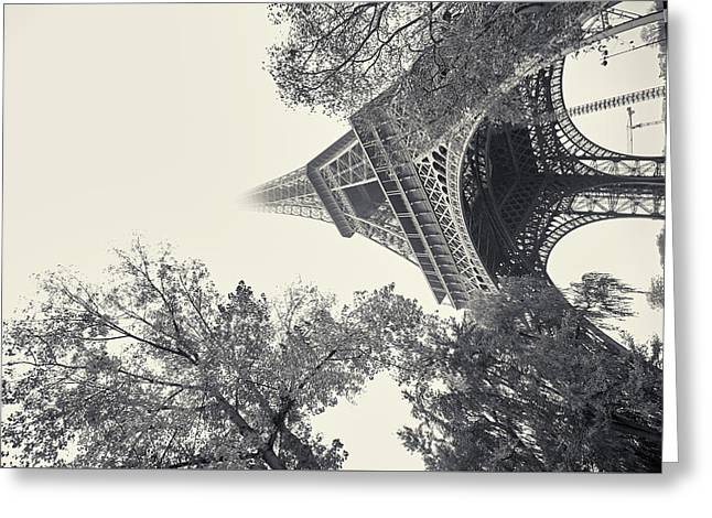 Greeting Card featuring the photograph Surrealistic Tower by Richard Goodrich