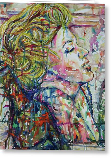 Surround Marylin Greeting Card by Joseph Lawrence Vasile