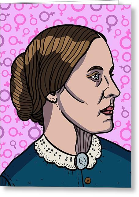 Susan B. Anthony Greeting Card