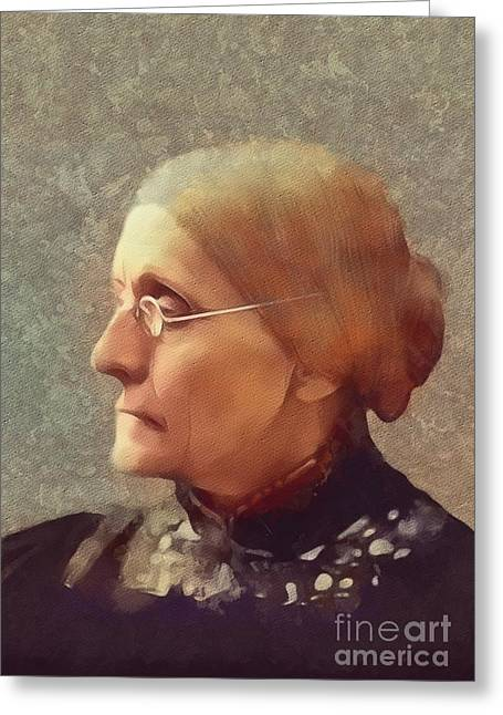 Susan B. Anthony, Suffragette Greeting Card