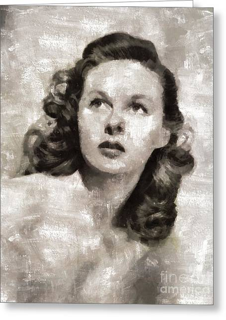 Susan Hayward, Actress Greeting Card