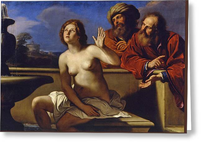 Susanna And The Elders 2 Greeting Card by Guercino