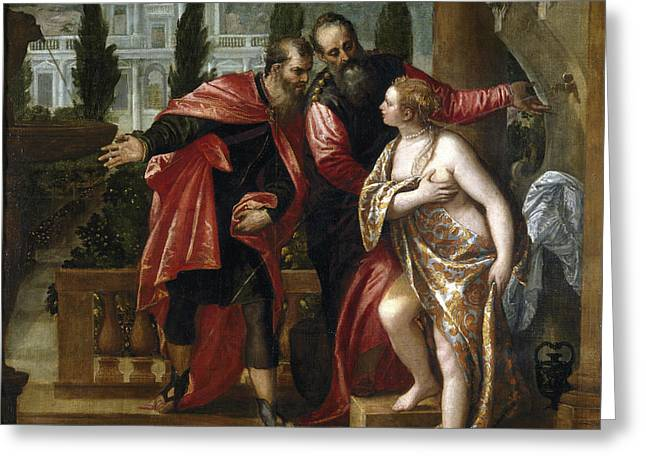 Susanna And The Elders Greeting Card by Paolo Veronese