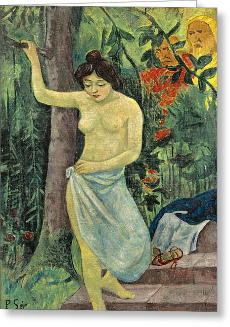 Susanna And The Elders Greeting Card by Paul Serusier
