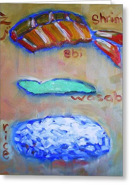 Sushi Deconstructed Greeting Card by Sheila Tajima