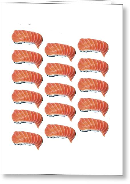 Sushi T-shirt Greeting Card by Edward Fielding
