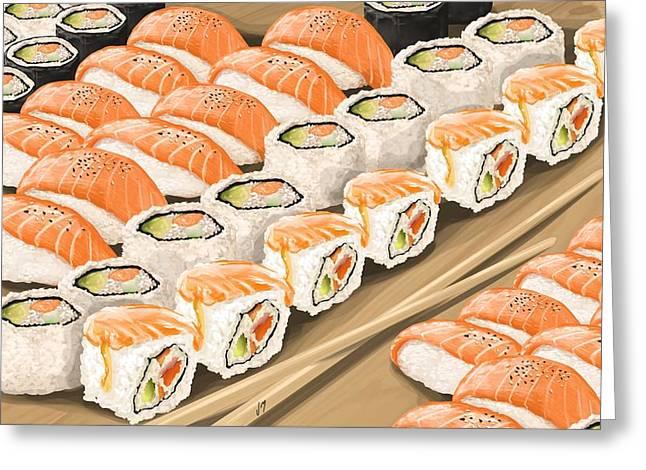 Sushi Greeting Card by Veronica Minozzi