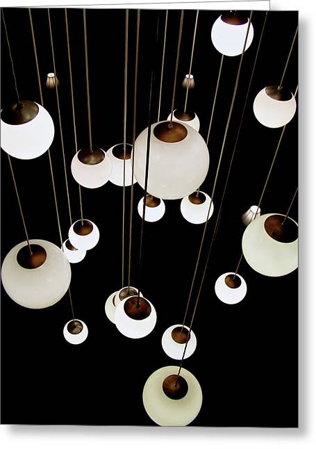 Suspended - Balls Of Light Art Print Greeting Card