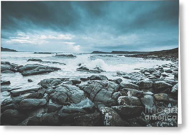 Suspenseful Seas Greeting Card by Jorgo Photography - Wall Art Gallery