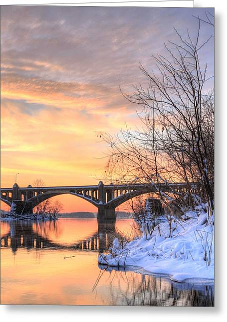 Susquehanna Sunrise Greeting Card by JC Findley