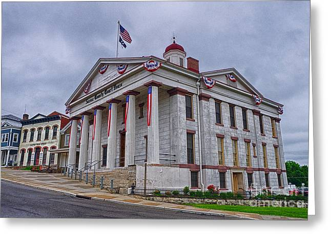 Sussex County Courthouse Greeting Card by Mark Miller