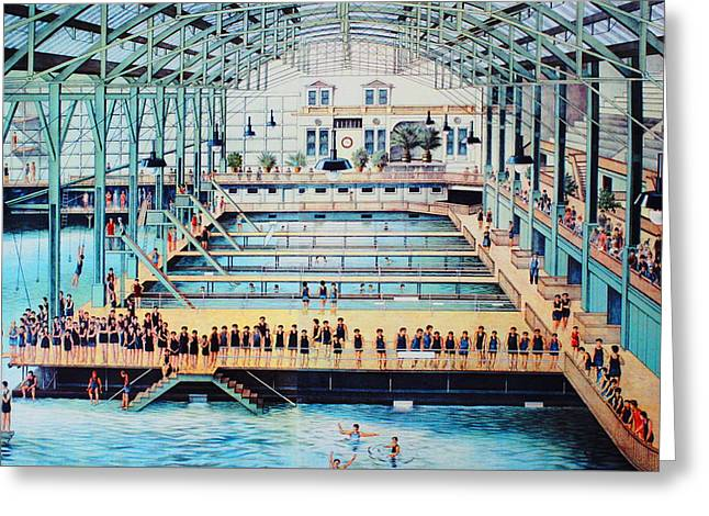 Sutro Baths At The Cliff House Greeting Card